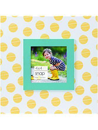 b40b4cbf8d4cc Snap 4x4 Yellow Polka Dot Tabletop Picture Frame ❤ Pinnacle