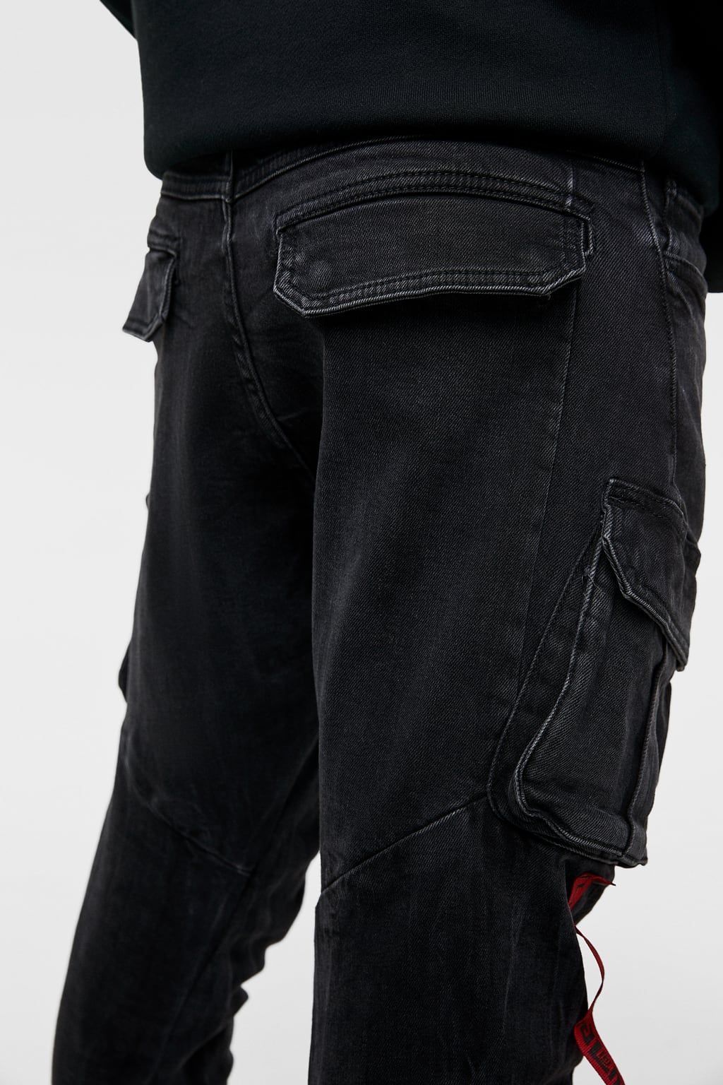 07277efe27 Image 5 of CARGO JEANS WITH SIDE TAPING from Zara | Jeans | Cargo ...