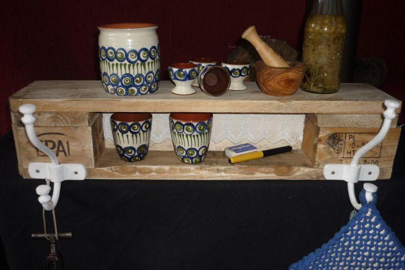 Paletten Möbel -Küchenregal - Garderobe- Badmöbel Von Holz
