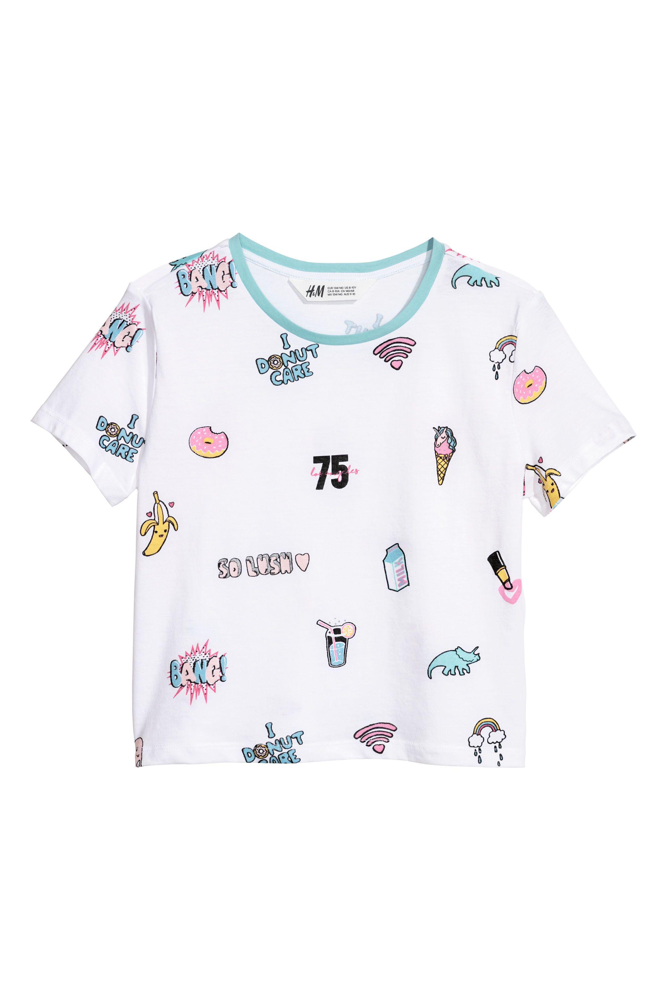 9d994505847 Printed T-shirt in 2019 | يهبلون | H&m, Shirt shop, H&m kids