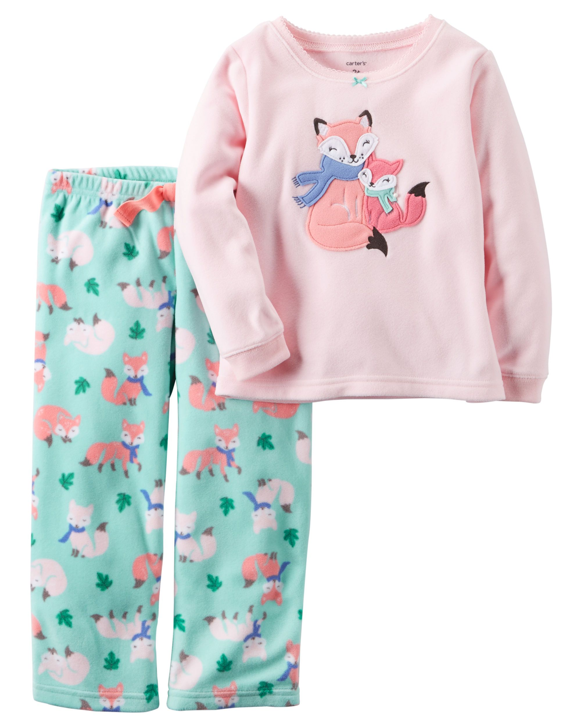 6eb2ddae3 Toddler Girl 2-Piece Fleece PJs from Carters.com. Shop clothing ...