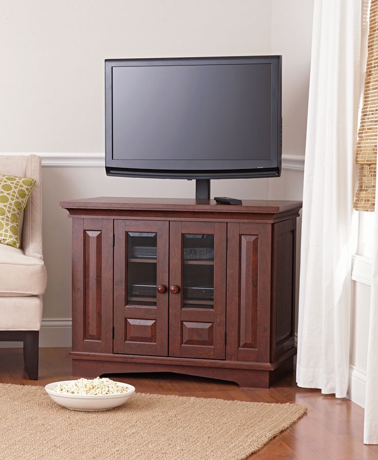 better homes and gardens willow mountain cherry tv stand with mount for tvs up to