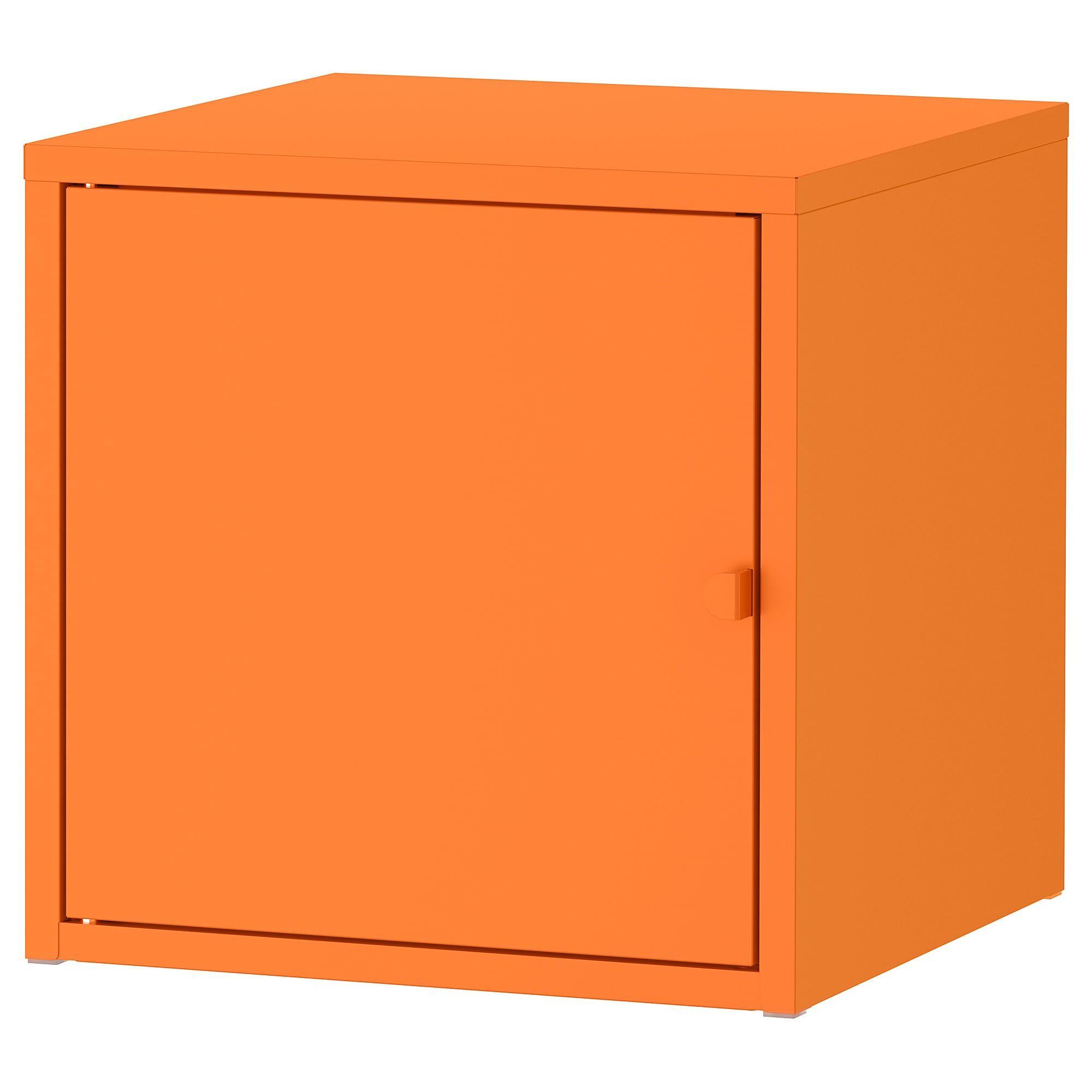 Ikea Lixhult Metal Orange Cabinet Ikea Ikea Storage Cabinets