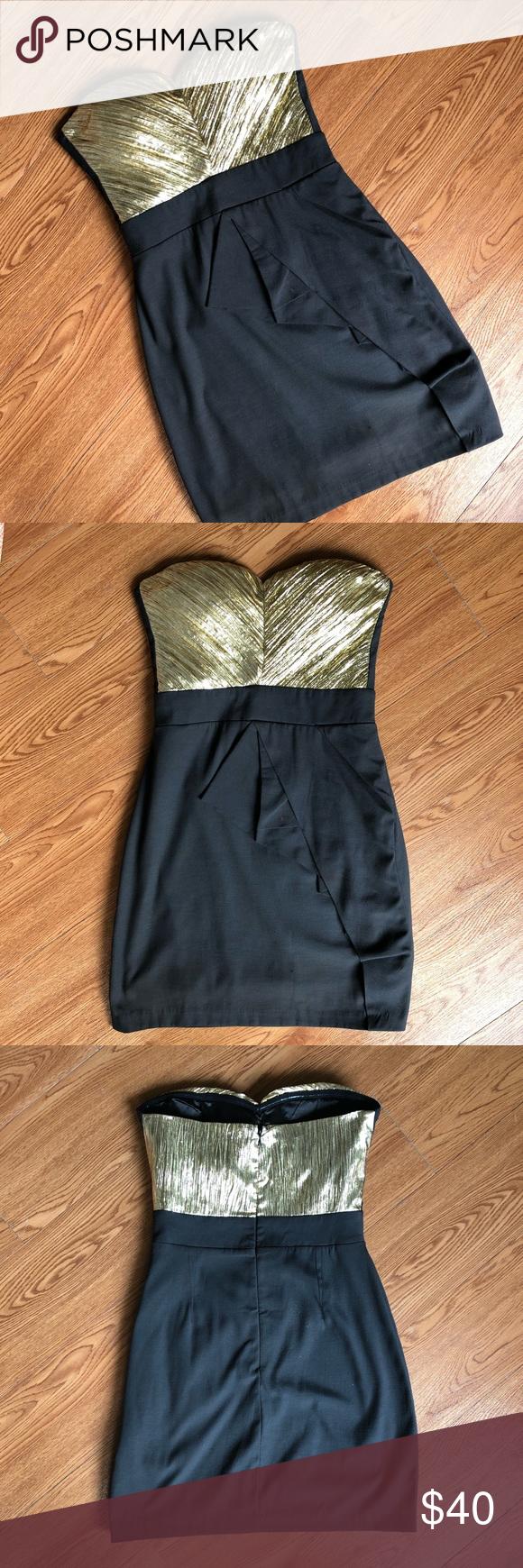 Sweetheart Shiny Gold Dress