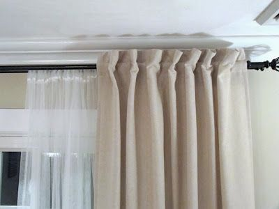 Clever Use Of Off The Rack Ikea Tab Top Curtains Transformed