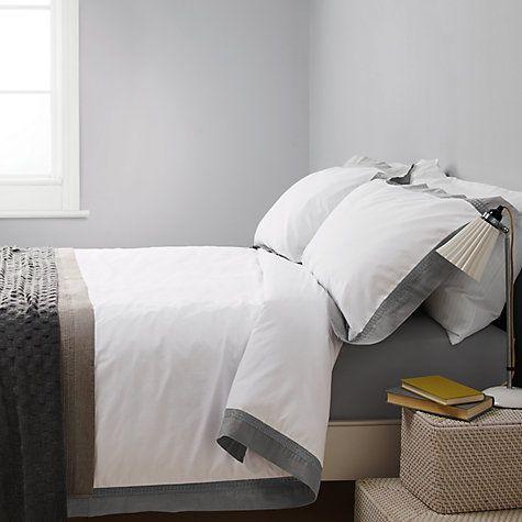 Buy John Lewis Croft Collection Wicklow Linen Border Bedding