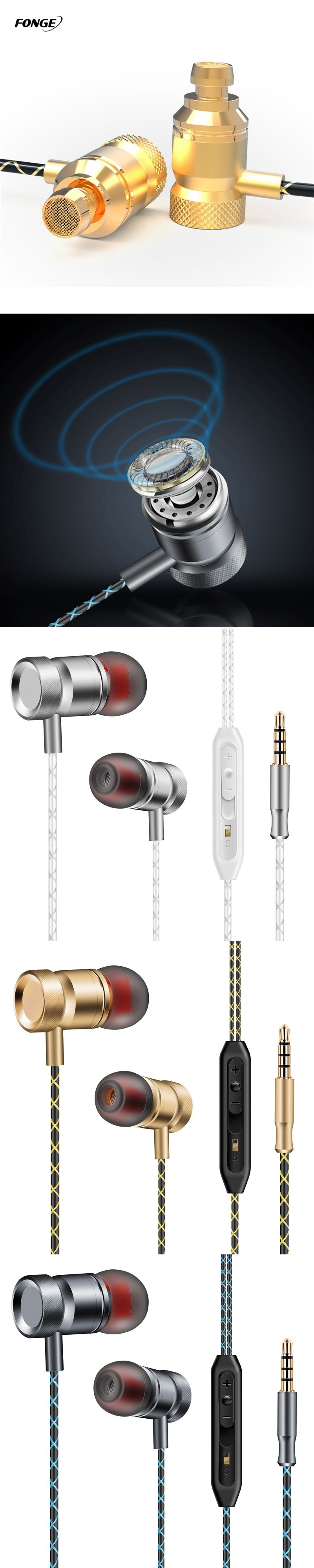 Original Fonge Piston Classic Earbuds In Ear Earphone with Microphone and Remote for Apple iOS