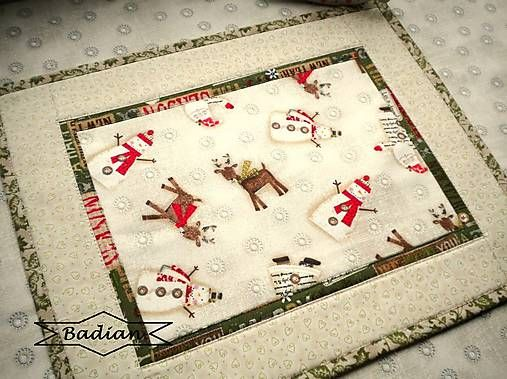 Holiday Stitches  - green (sada 2ks)