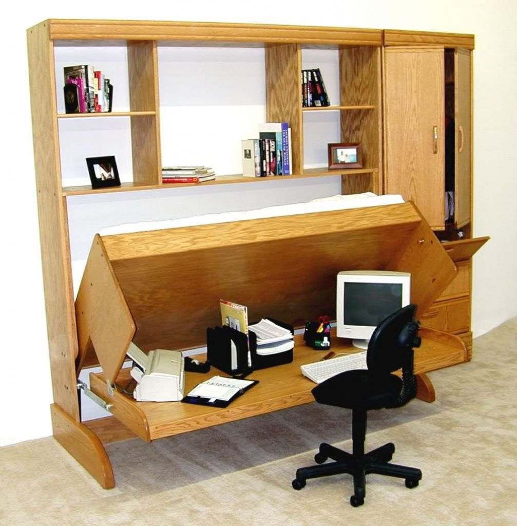 There Are Plenty Of Good Furniture Designs Various Materials That Compose A Lovely Wall Bed With Desk Some Of Them Save S Hidden Bed Bed Desk Murphy Bed Desk