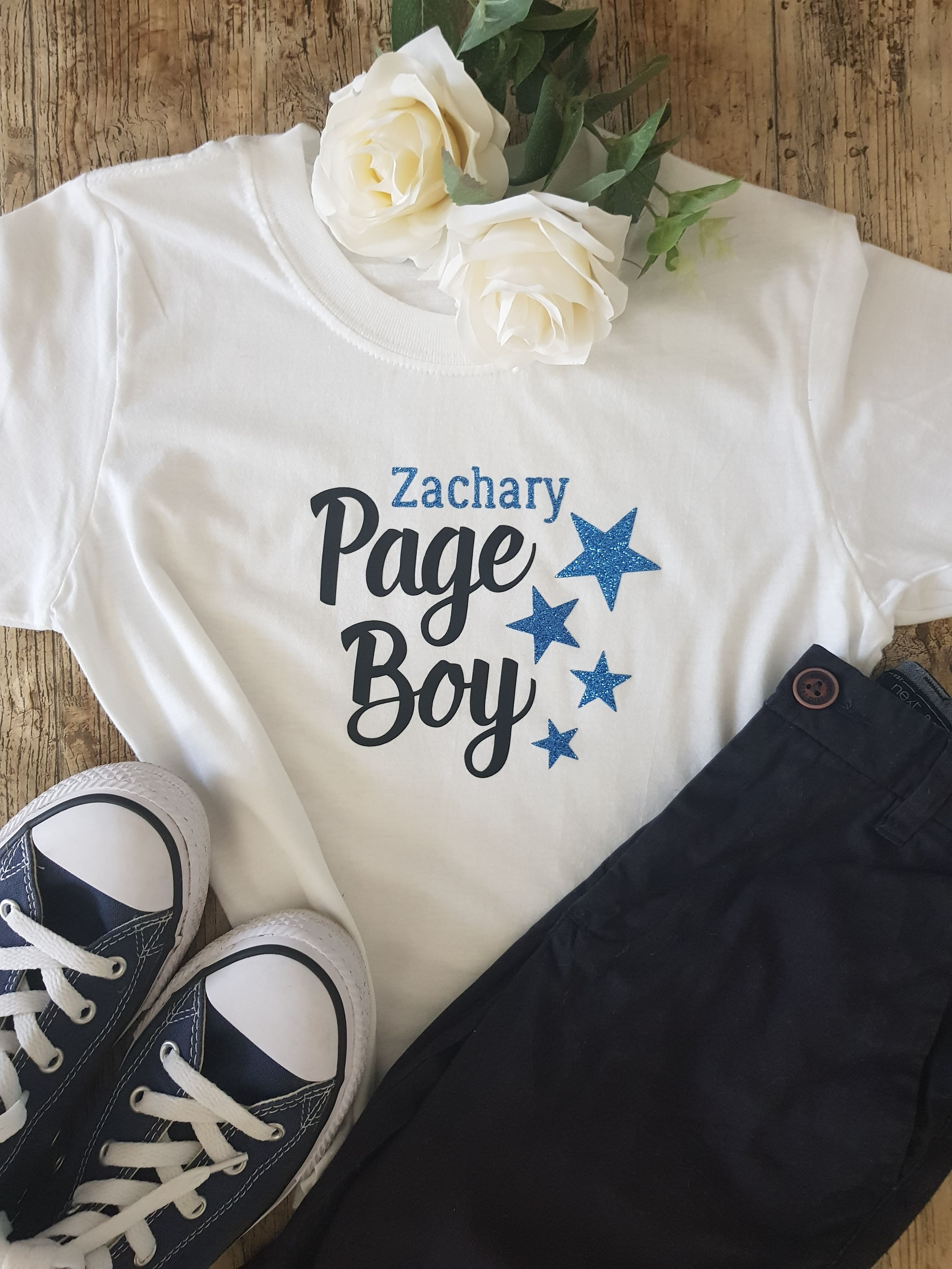 Personalised Pageboy Page Boy Wedding T-Shirt Top Tee Childrens Kids Gift