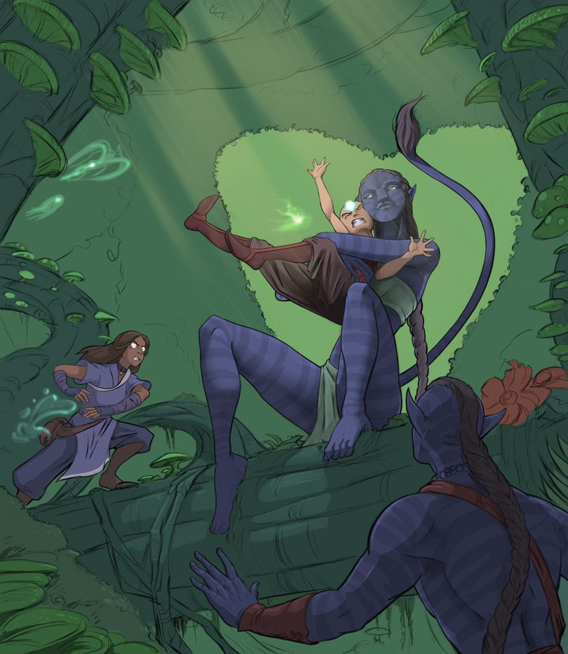 haha, that's a pretty good crossover! ~ Avatar: The Last Airbender x James Cameron's Avatar