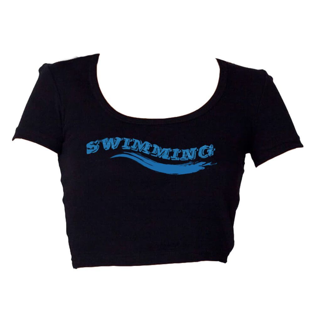 Swimming Women Crop T-Shirt ♀