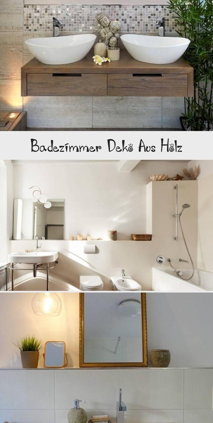 Badezimmer Deko Aus Holz (With images) | Round mirror ...