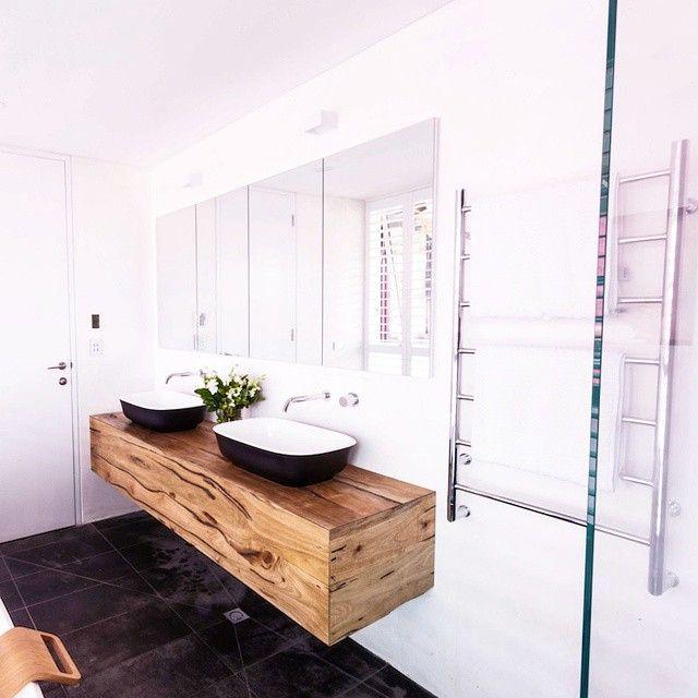 The Judges Loved Our Custom Floating Timber Vanity Unit In