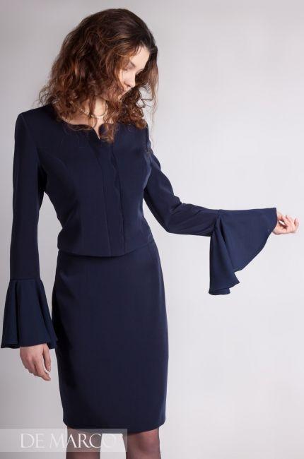 b1bef2855e Garsonki i kostiumy damskie sklep internetowy. Granatowy komplet z De Marco   fashiondesign  wf  fashionpost  demarco  bags  europe  warsaw  elegant ...