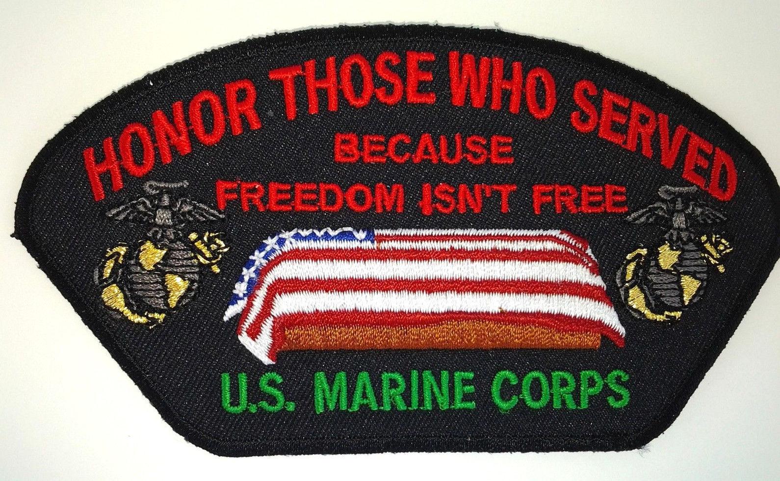 Honor Those Who Served Us Marine Corps Military Veteran Hero Cap Patch D Veterans Heroes Us Marine Corps Marine Corps
