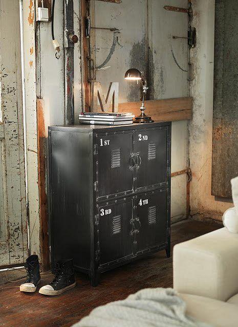 Vintage Combo ~ designcombo Locker Furniture Pinterest Lockers - industrial chic wohnzimmer