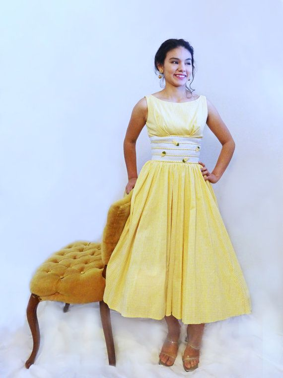 Sweet 1950s Jane Stevens Dress  Sundress  by AuntieEstablishment
