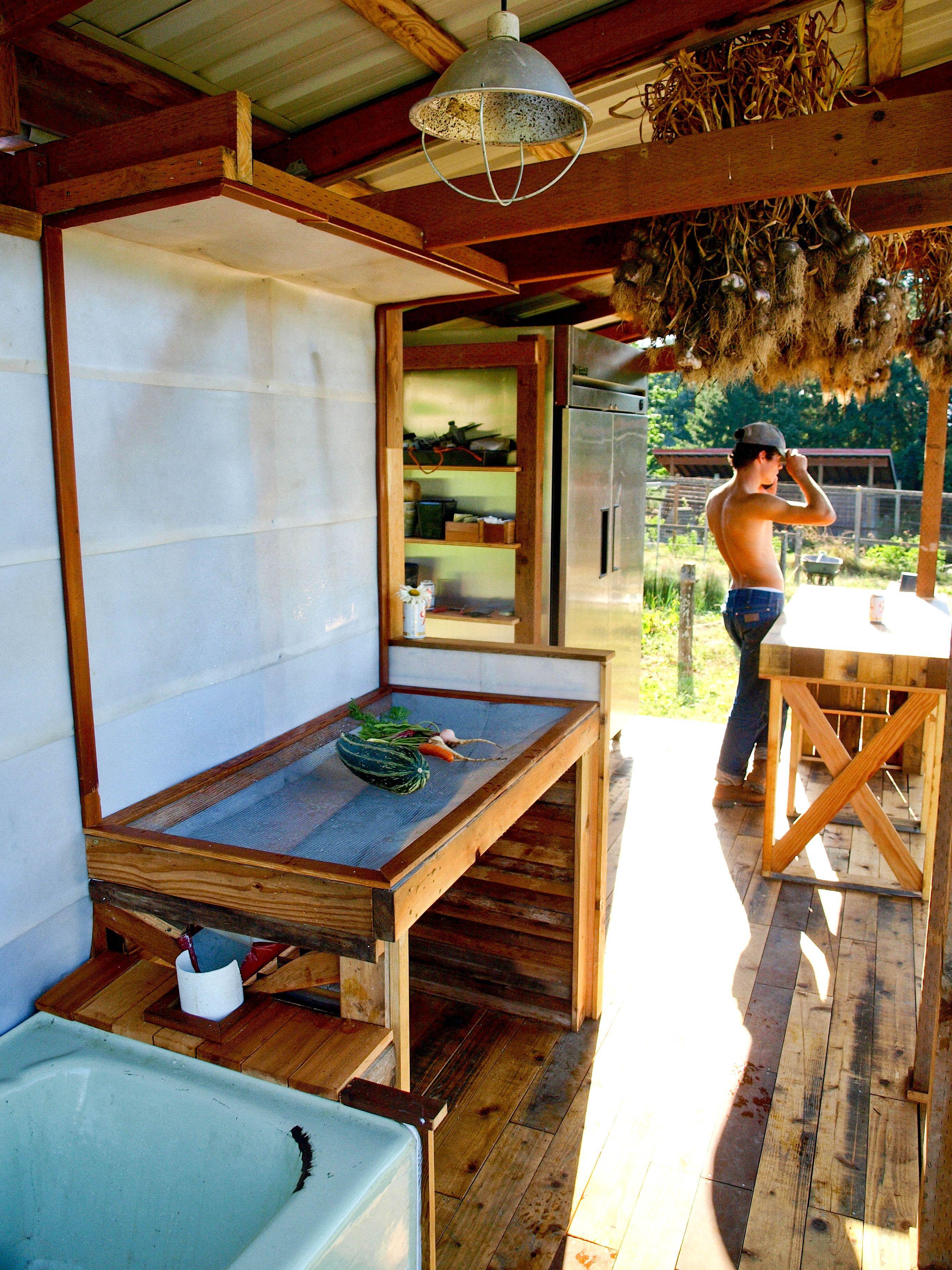Wash station/shed Canning kitchen, Farm, Urban garden