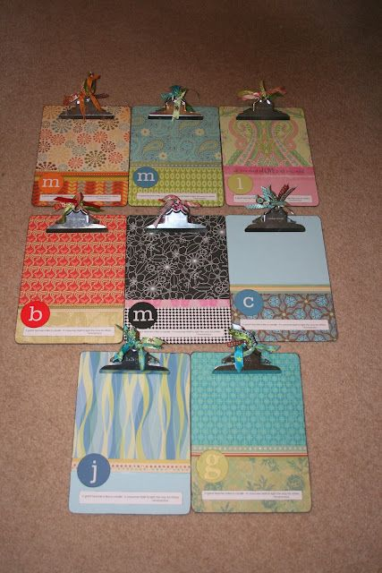 I love this idea for clipboards.