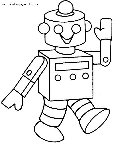Robots Walking Smiling Robots Coloring Pages Pinterest