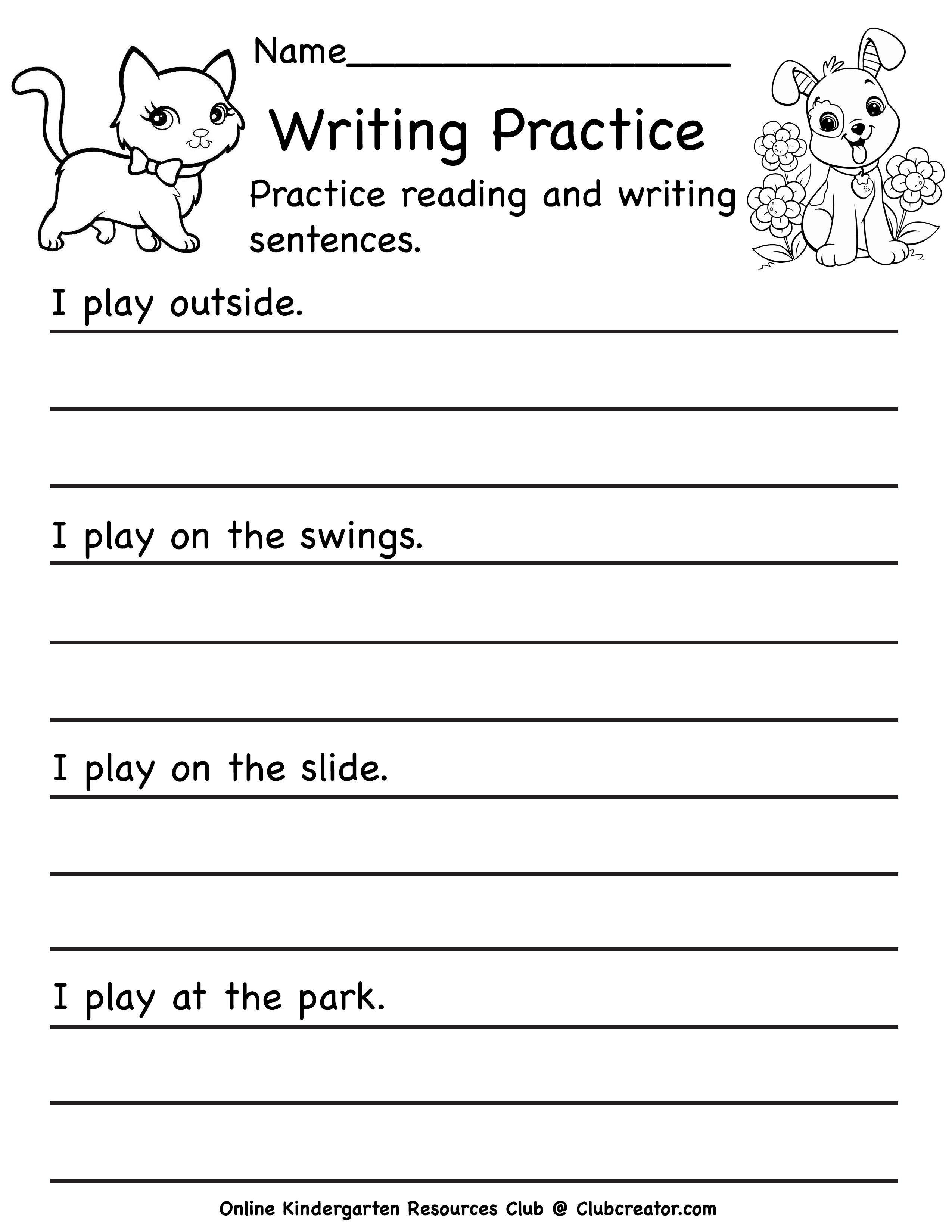 Writing Worksheet Writing Practice Worksheets Writing Practice Sentence Writing [ 3300 x 2550 Pixel ]