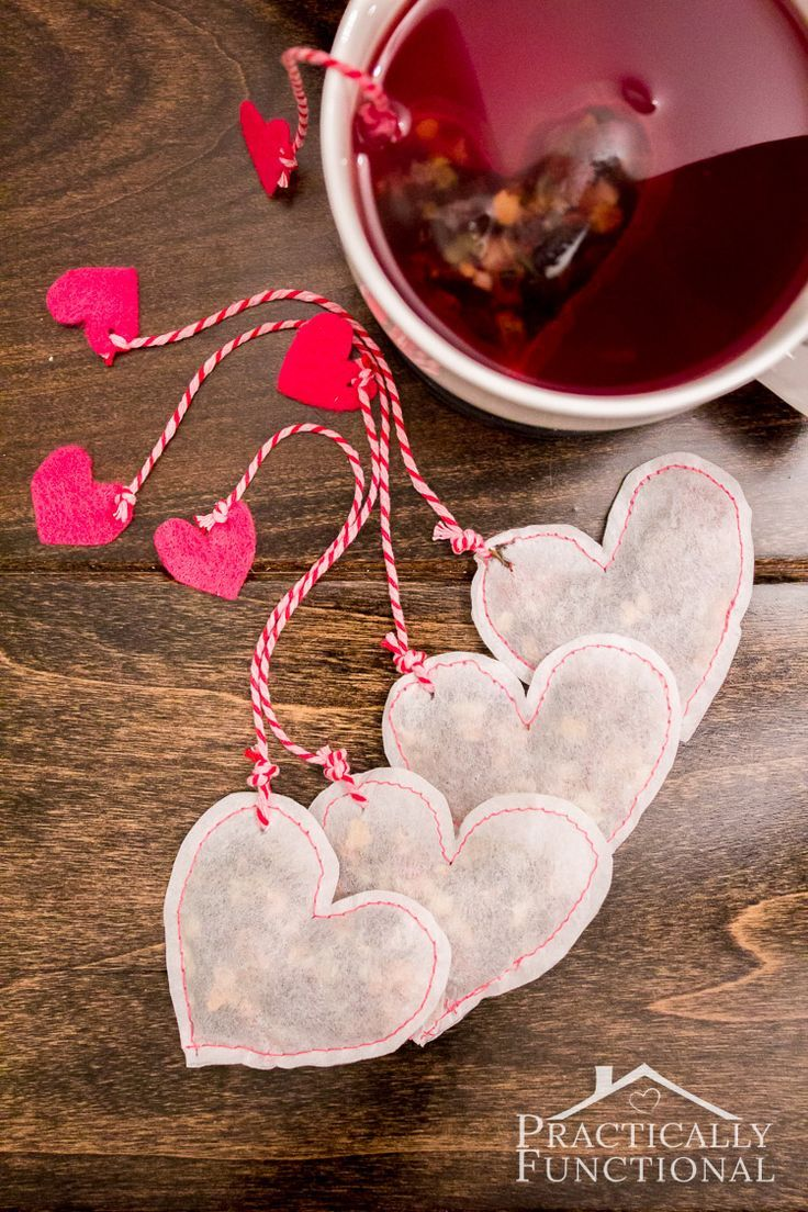 DIY Heart Shaped Tea Bags For Valentine's Day! || Practically Functional