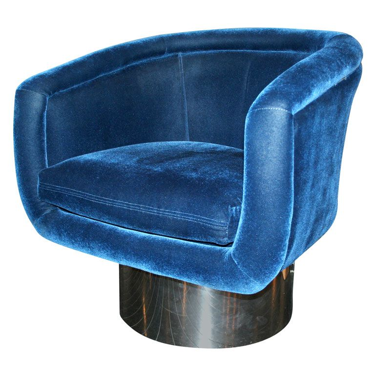 Leon Rosen Pace Collection Chair Blue Chair My Furniture