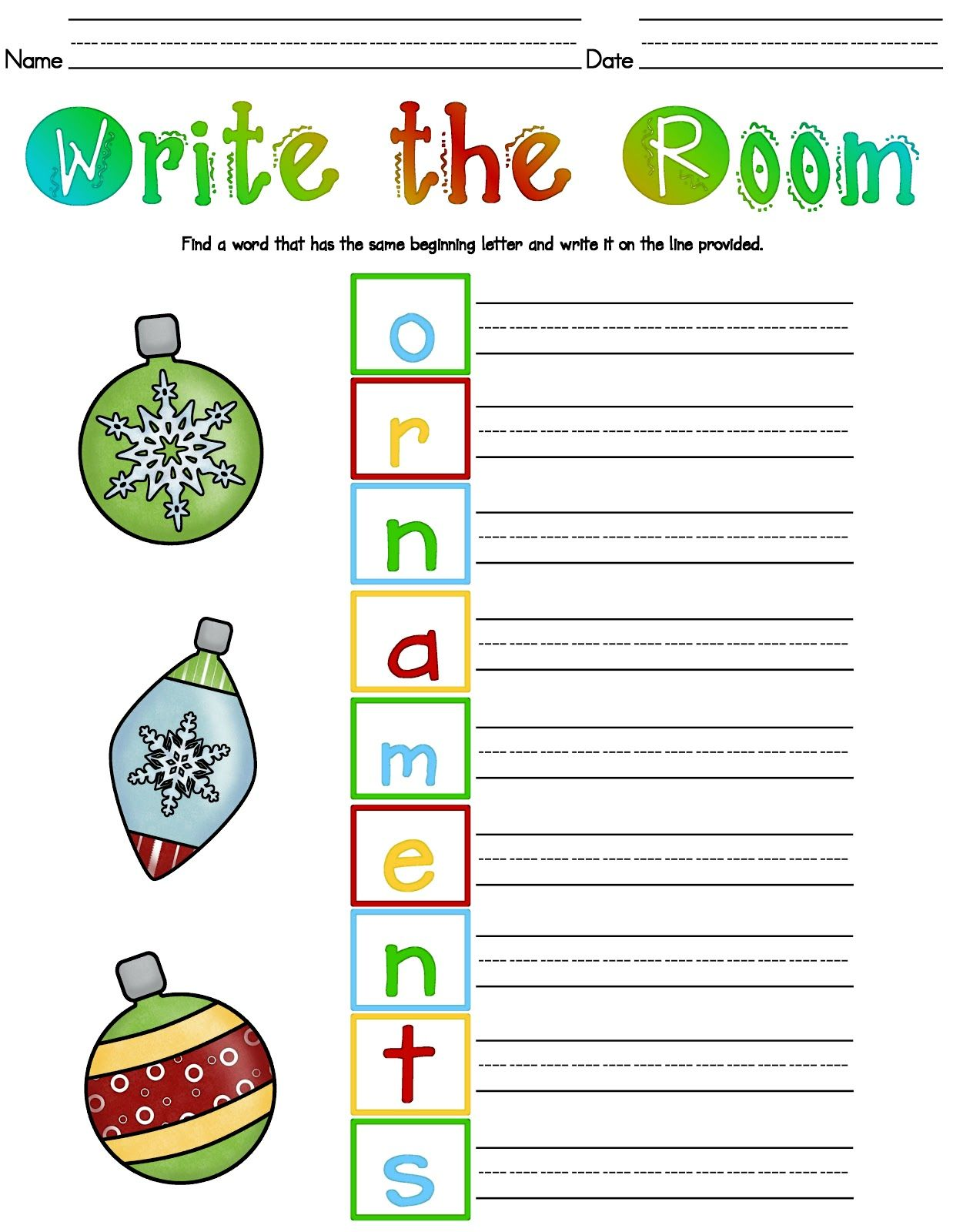 Kelly And Kim S Kreations Christmas Write The Room This