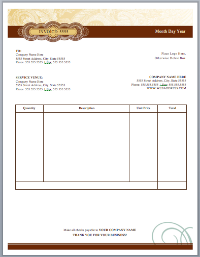 Artist Invoice Template Invoice Template Templates Template Free