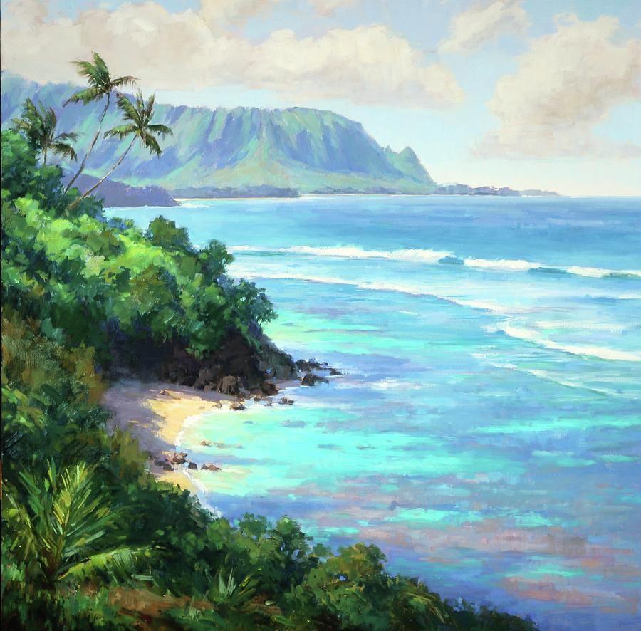 Hideaways Beach Hawaii Painting Beach Art Hawaii Art
