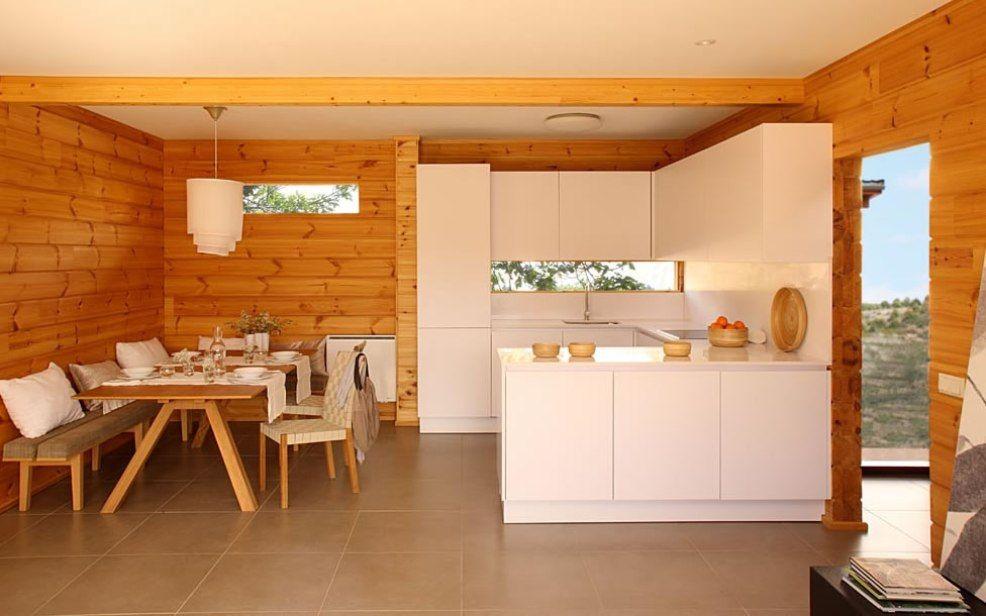 Modern Cabin Kitchen Log Cabins Pinterest Cabin