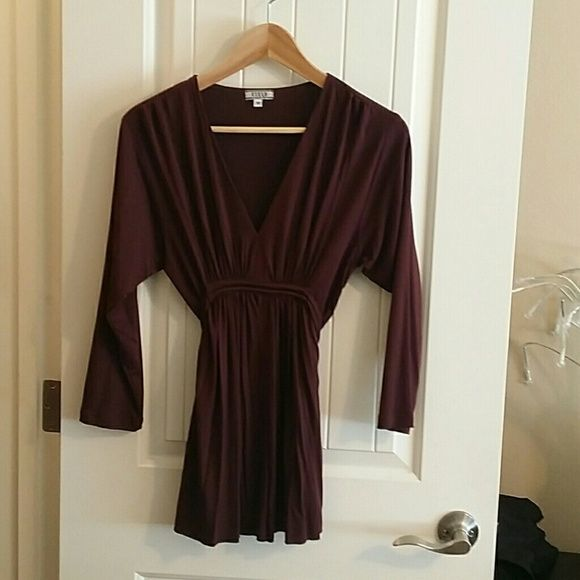 Cielo Very soft maroon blouse 3/4 and ties in the back Cielo  Tops Blouses