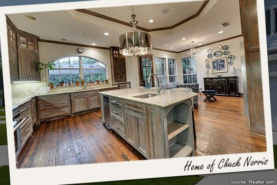 Celebrity House Sold Movie And TV Tough Guy Chuck Norris KITCHEN