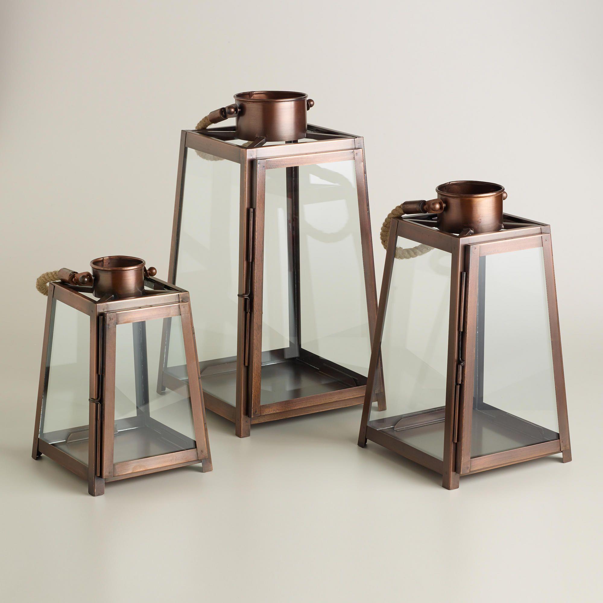 Copper Rope Handle Lanterns