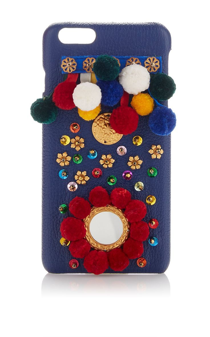 Blue Leather I Phone Case by DOLCE & GABBANA for Preorder on Moda Operandi