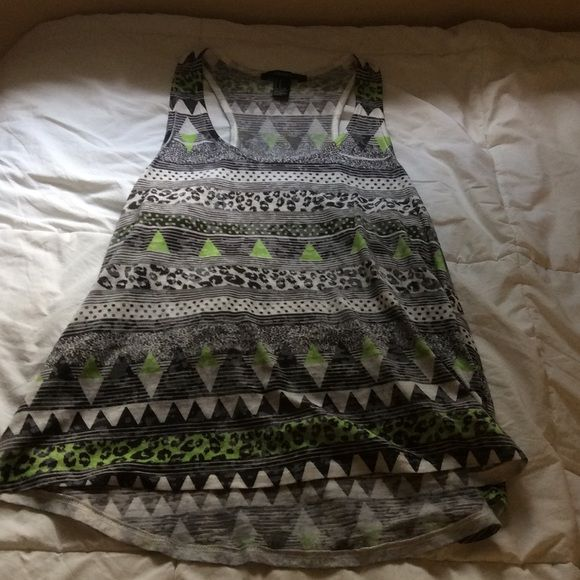 Tank top Patterned tank top from Forever 21. Never worn Forever 21 Tops Tank Tops
