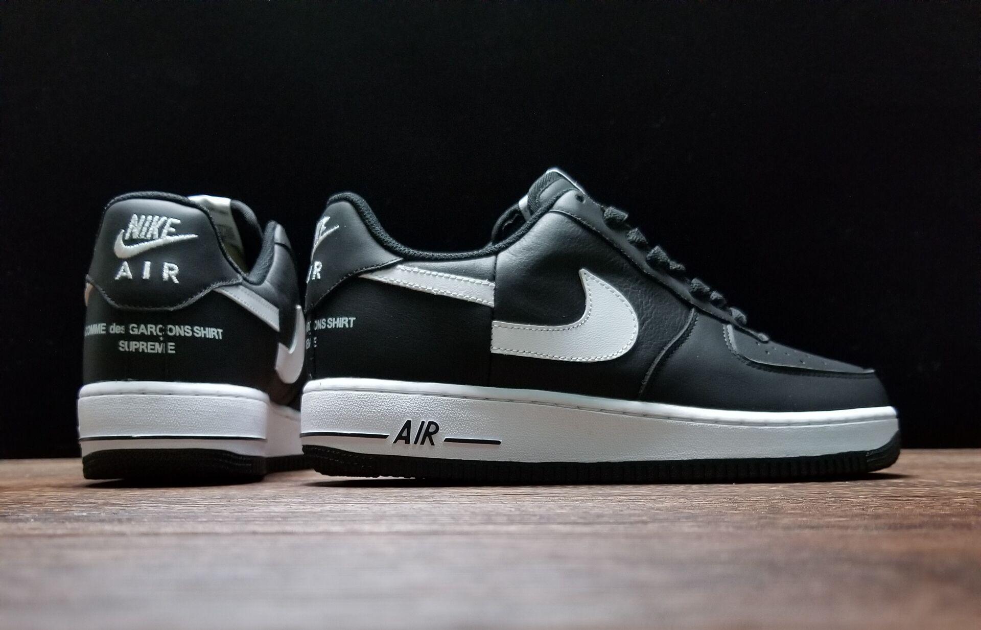 Nike Air Force 1 Low Supreme x Comme des Garcons (2018) Unisex BlackWhite AR7623 001