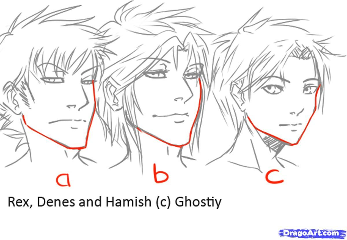 How to draw manga males draw anime males step 3