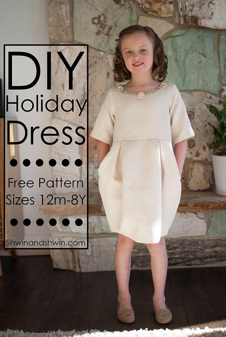 DIY Holiday Dress (Shwin & Shwin) | Free pattern, Holidays and Patterns
