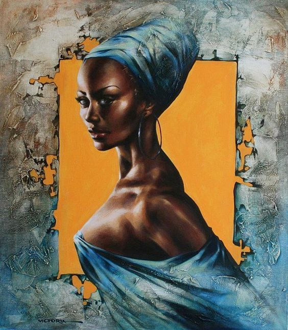 Image result for african woman portrait painting
