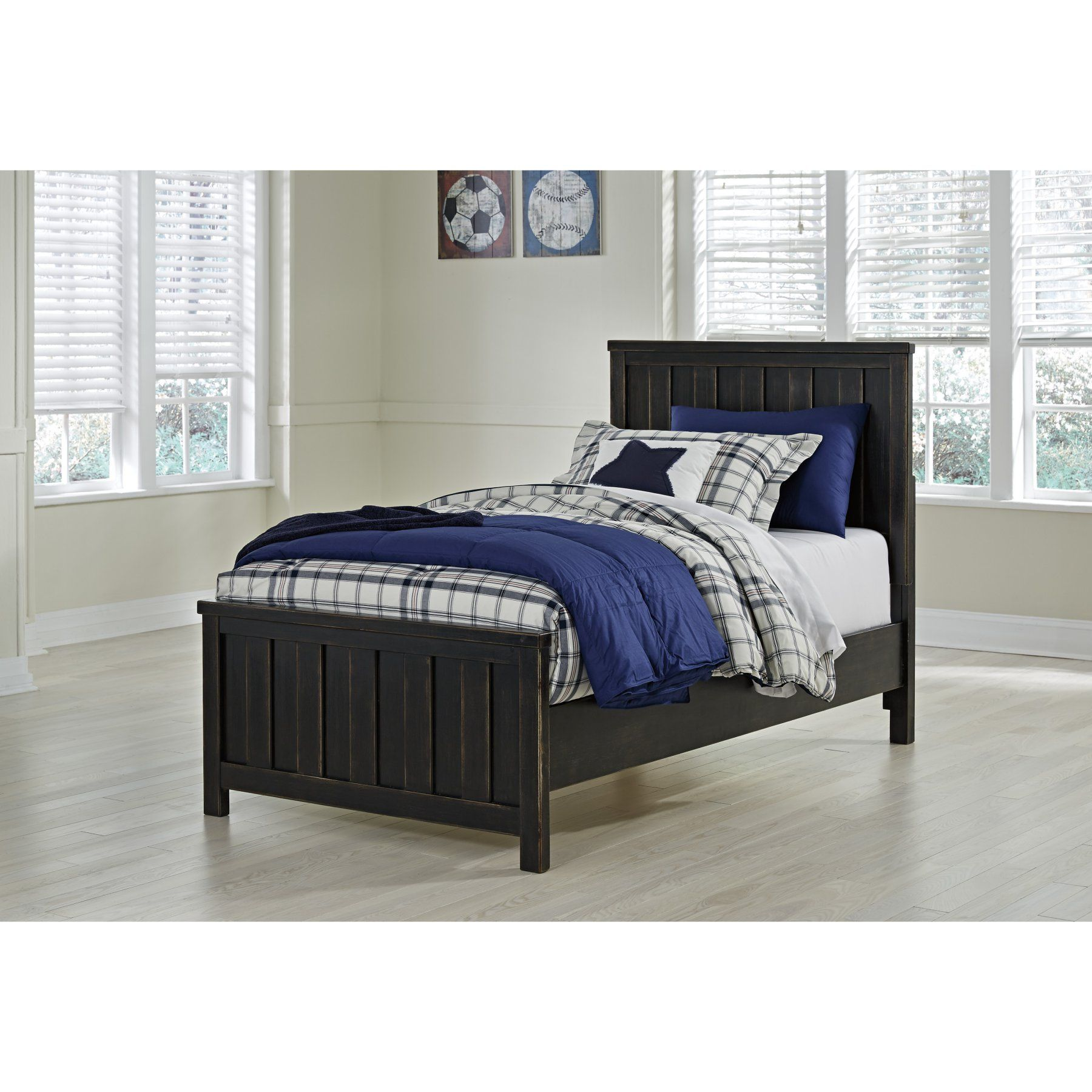 Signature Design by Ashley Jaysom Youth Panel Bed Black