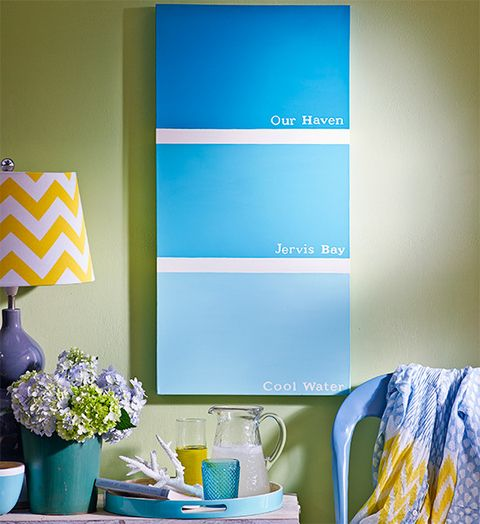 How to make an oversized paint chip artwork better homes and gardens