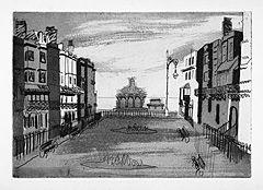✽ john piper - 'bedford square' - 1939 - etching and aquatint
