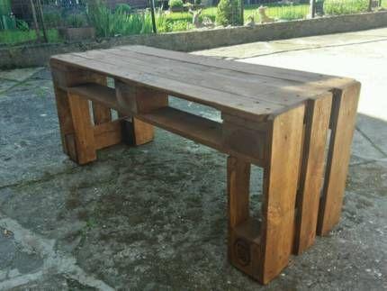 gartenbank oder tisch aus epal europaletten in saarland. Black Bedroom Furniture Sets. Home Design Ideas