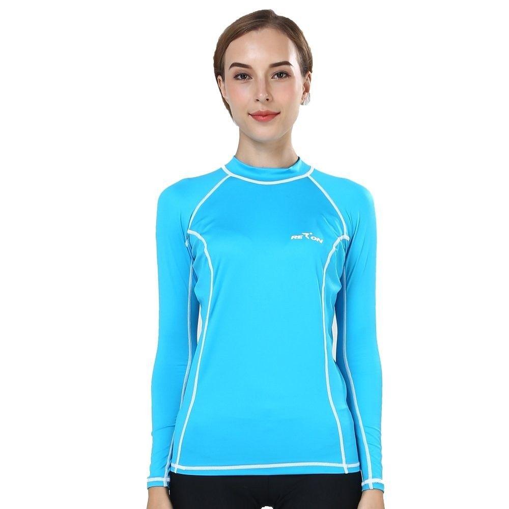 984d61bdd5 Women's Clothing, Swimsuits & Cover Ups, Rash Guards, Rash Guard Women Rash Shirt  Girls Rash Vest UV Resistant Swim Top Shirt Surf Rashguard Lady - blue ...
