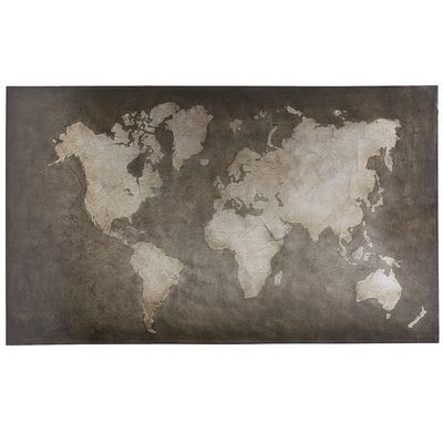 World map art steel gray pier one 250 maps pinterest world map art steel gray pier one 250 gumiabroncs Image collections
