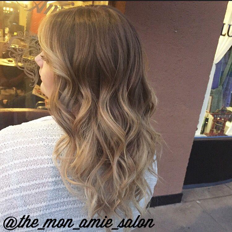 Light Blonde Balayage Highlights With Natural Light Brown Base Long