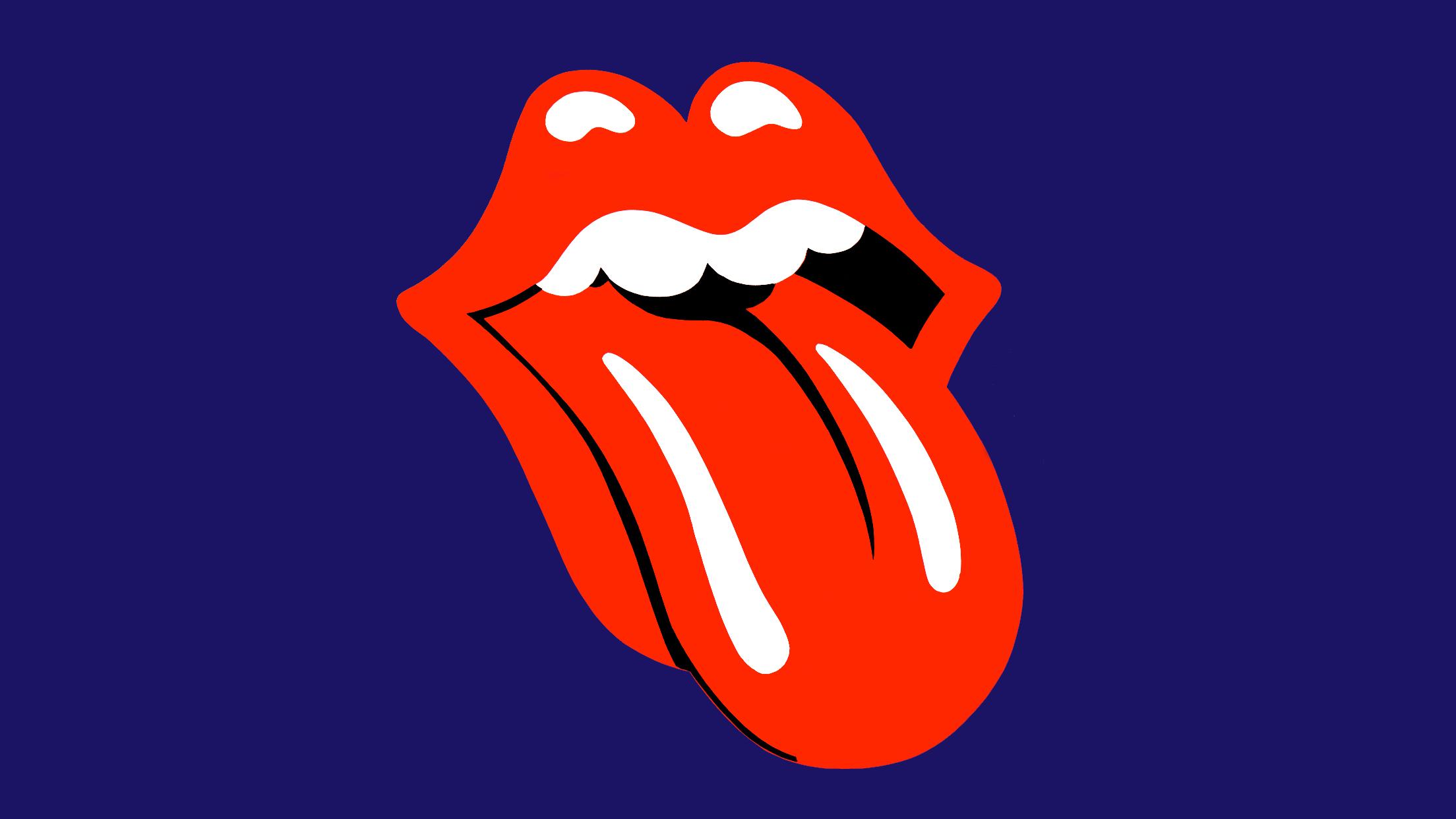 Rolling Stones Tongue Rainbow Free Wallpaper Logo Pop Art Iphone