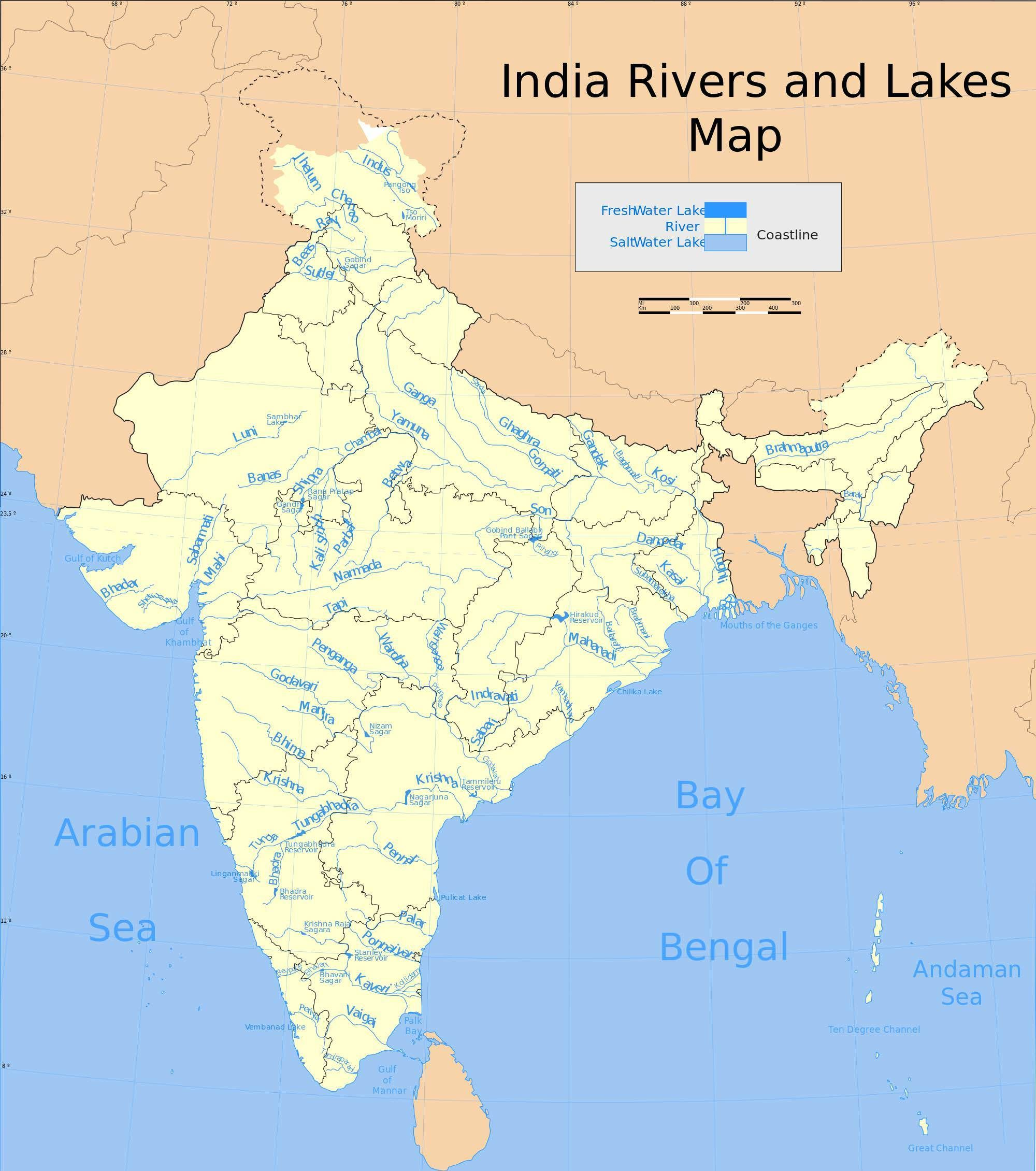 Indian Rivers And Lakes Indian River System Full Map Pinterest - River system map
